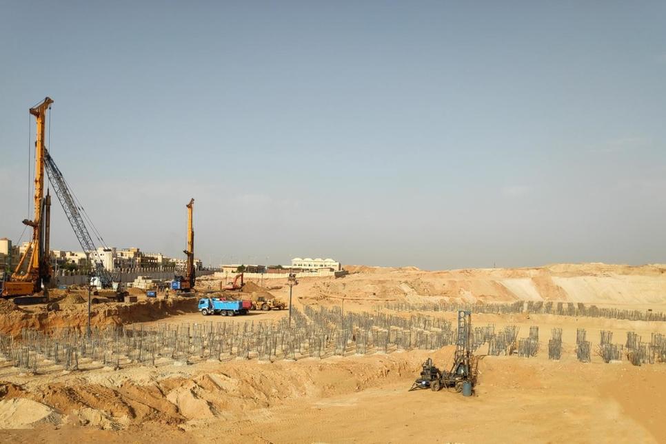 Orascom completes piling work at Egypt's ZED Park Sheikh Zayed
