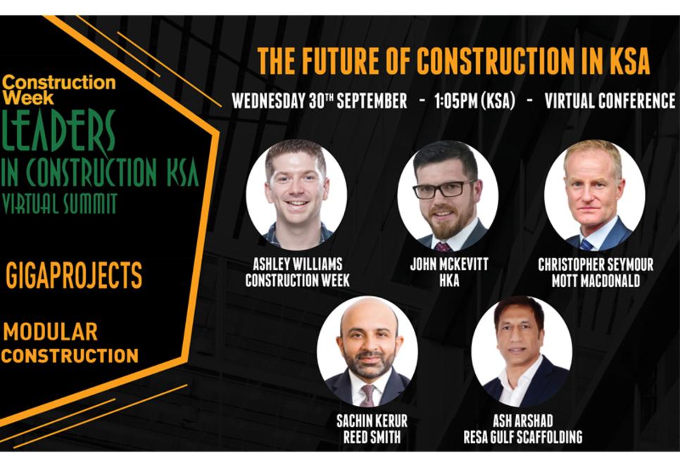 Leaders KSA 2020: Future of Construction panel revealed