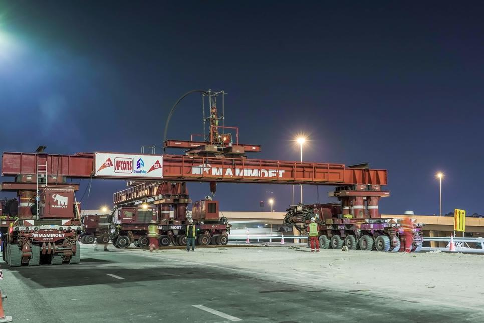 Mammoet installs 24 precast girders on RTA's bridge widening project
