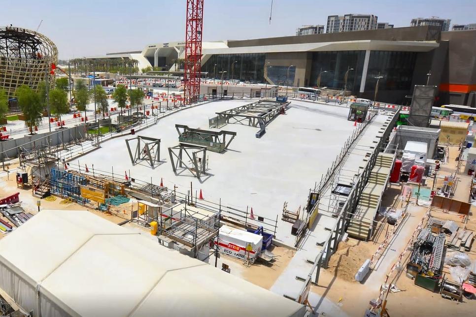 UK-Pavilion-construction-August-2020